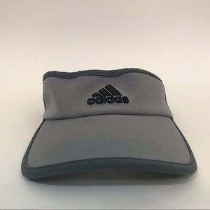 Adidas visor- gray with black logo
